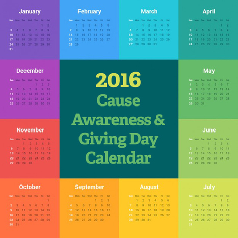2016 Cause Awareness & Giving Day Calendar | Networked Nonprofits and Social Media | Scoop.it