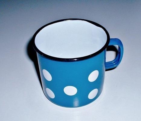 Vintage Enamelware Blue Polka Dot Mug - The Vintage Village | Vintage Passion | Scoop.it