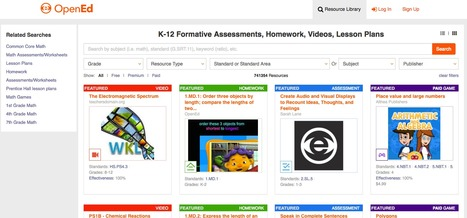 K-12 Formative Assessments, Homework, Videos, Lesson Plans - OpenEd #OER | TICs, tablets y otros gadgets en educación. | Scoop.it