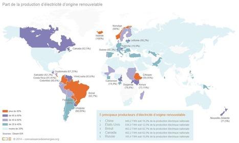 Les pays qui produisent le plus d'électricité issue des énergies renouvelables (infographie) | Territoires & Changement Climatique | Scoop.it