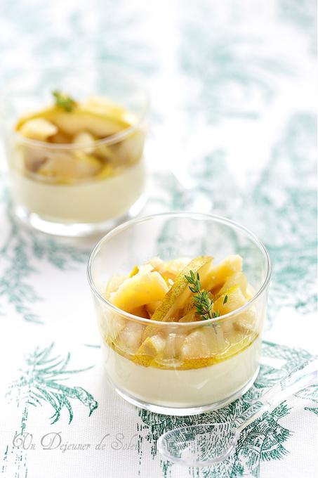 Panna cotta au parmesan et aux poires   Chef, à table !   Scoop.it