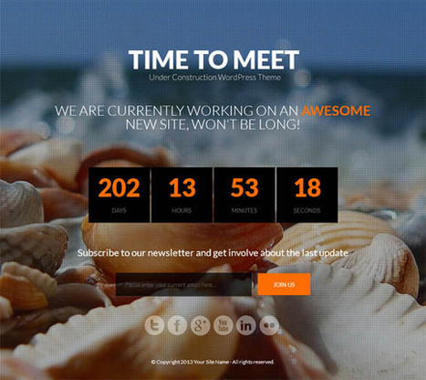 Time to Meet, WordPress Responsive Under Construction Theme | WP Download | Theme | Scoop.it