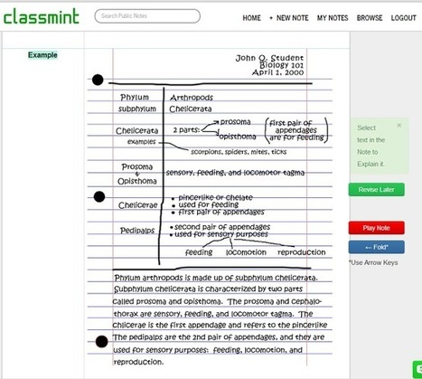 Librarians on the Fly: CLASSMINT - interactive note cards for students and teachers | Web Tools in Education | Scoop.it