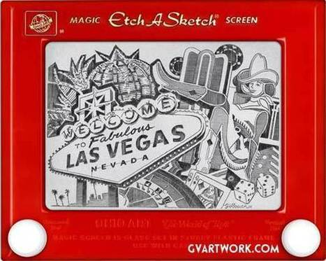 The Etch A Sketch King #art #drawing #EtchASketch #illustration   Luby Art   Scoop.it
