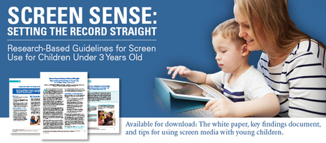 ZERO TO THREE: Screen Sense: Setting the Record Straight | Learning and Teaching Literacy | Scoop.it