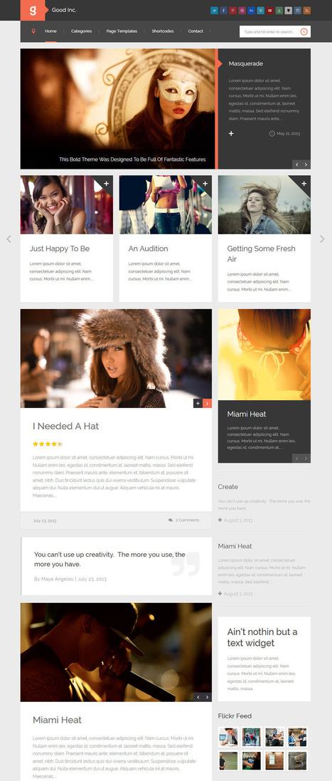 10 Best Flat Design WordPress Themes 2013 | Unique & Minimal designs | Best WordPress Themes | Scoop.it