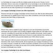 Les villes phares du Cambodge | Circuits et voyages Cambodge | Scoop.it