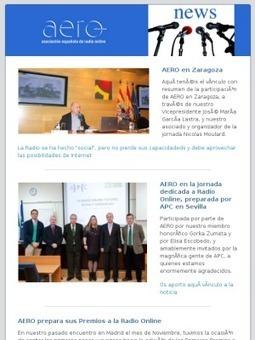 Noticias AERO - Asociación Española de Radio Online - Noviembre 2013 | Radio 2.0 (Esp) | Scoop.it