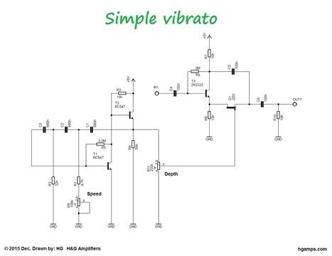 Simple guitar vibrato effect - H&G Amplifiers   DIY Music & electronics   Scoop.it