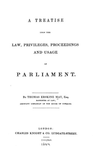 Infringing the copyright of Erskine May | Parliamentary Procedure | Scoop.it
