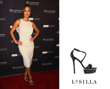 "Zulay Henao on Le Silla sandals at the ""Vida Lexus Event"" 