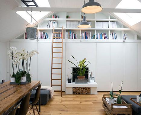 NOIR BLANC un style: A Londres, un mini garage transformé en un sublime appartement. Brillant! | Ma décoration d'intérieur | Scoop.it