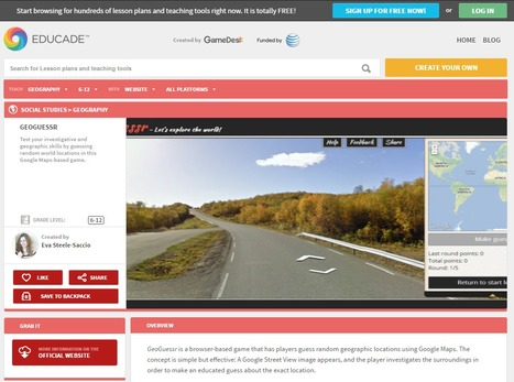 Educade | Teaching Tool | GEOGUESSR | 21st Century Tools for Teaching-People and Learners | Scoop.it