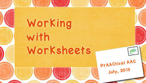 Working with Worksheets | Communication and Autism | Scoop.it