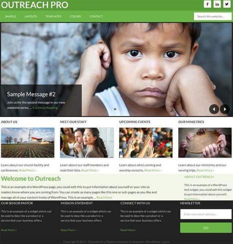 Outreach Pro Child Theme • A Church Theme For Genesis Framework | Wordpress Websites | Scoop.it