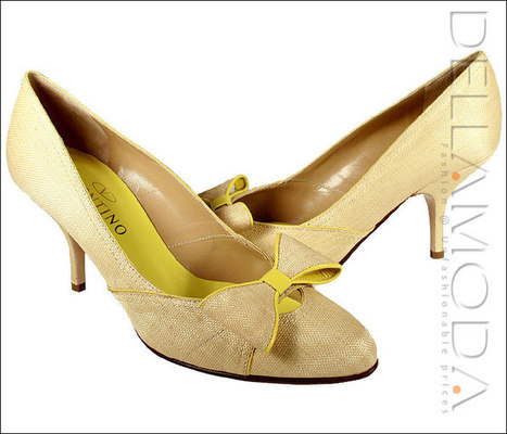Valentino Shoes, Designer Shoes for Women, Beige/Lemon Green (VALW03)   Online Shopping   Scoop.it