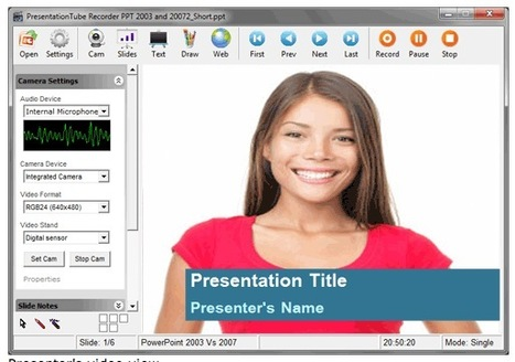 Record Voice-Overs for Your Presentations and Publish Them Online: PresentationTube | Moodle and Web 2.0 | Scoop.it