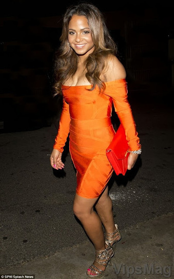 Christina Milian in sexy orange minidress clubbing in West Hollywood   VipsMag   Sexy Pics   Scoop.it