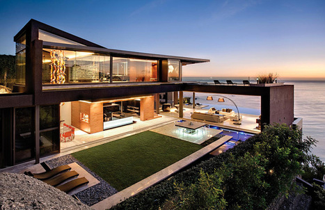 Facing the Atlantic Ocean: Hillside House by SAOTA, South Africa | Library Science Matters | Scoop.it