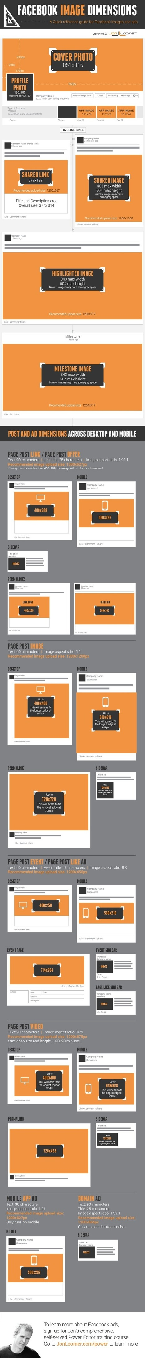 All Facebook Image Dimensions: Timeline, Posts, Ads [Infographic] | My Tools selection | Scoop.it
