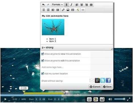 Open Video Annotation Project: ucfirst(Home) | EDUCATIC | Scoop.it