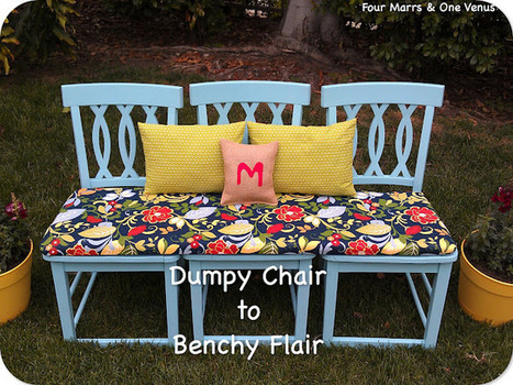 Flea market chairs to garden bench | Upcycled Garden Style | Scoop.it