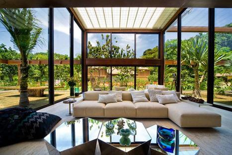 A tropical summer retreat in Rio de Janeiro | KOUBOO.com - Well Traveled Home Decor & Interior Design | Scoop.it
