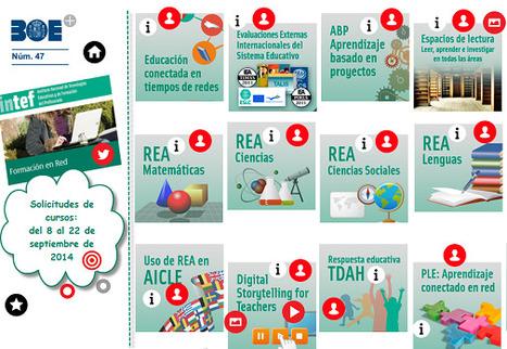 Convocatoria de cursos de Formación en Red del INTEF, segunda edición de 2014 | Blog de INTEF | APRENDIZAJE | Scoop.it