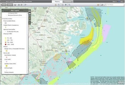 Using Spatial Data and Web Mapping Tools to Support Wind Energy Planning off the North Carolina Coast | Digital Coast | Wind Energy | Scoop.it