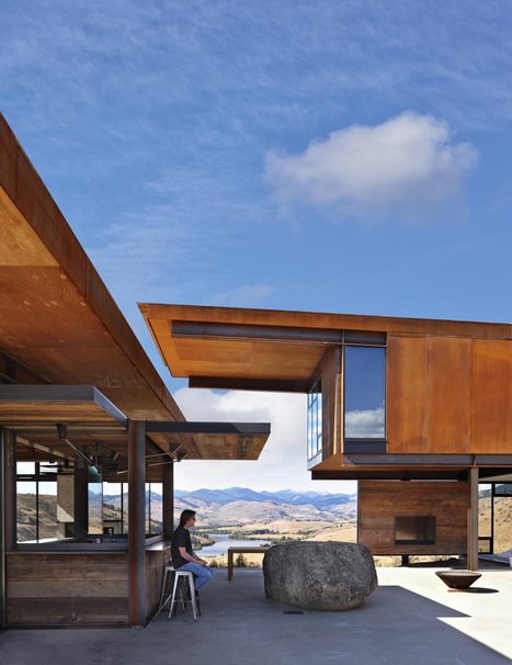 Maison contemporaine avec un bardage en acier rouillé | BONHOMME BATIMENTS INDUSTRIELS | Scoop.it
