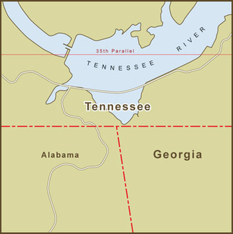 A Map of the Georgia / Tennessee Border Dispute Over Water Rights | WQ Water Rights | Scoop.it