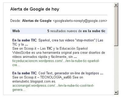 En la nube TIC: Crear alertas con Google   Las TIC y la Educación   Scoop.it