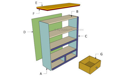 Simple Bookcase Plans | Free Outdoor Plans - DIY Shed, Wooden Playhouse, Bbq, Woodworking Projects | Home Repair | Scoop.it