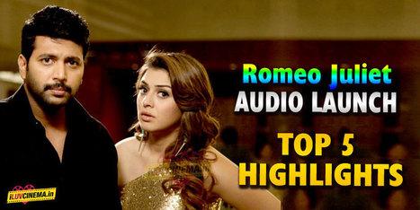 Jayam Ravi-Hansika's Romeo Juliet audio launch – Top 5 highlights   kollywood   Scoop.it