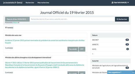Toutelaloi. Service de veille et recherche sur le Journal Officiel | Les outils de la veille | Les outils du Web 2.0 | Scoop.it