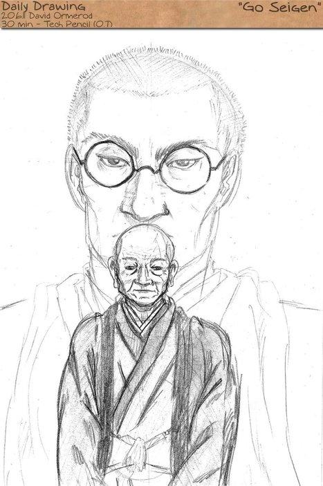 Portrait of Go Seigen by Stjepan of http://suji.ch/ | Go Seigen | Scoop.it