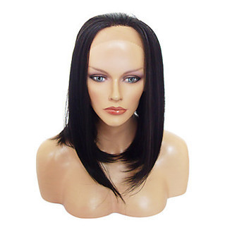 Lace Front Stylish Medium-length Straight Natural Black Heat-resistant Synthetic Wig – WigSuperDeal.com | Party Wigs | Scoop.it