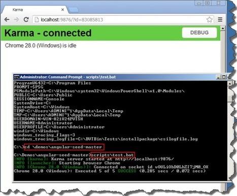 Setting-up AngularJS, Angular Seed, Node.js and Karma | Development on Various Platforms | Scoop.it