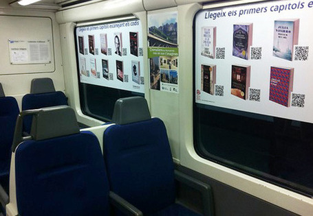 Bibliotren Transforms Trains Into Virtual Libraries | The Information Professional | Scoop.it