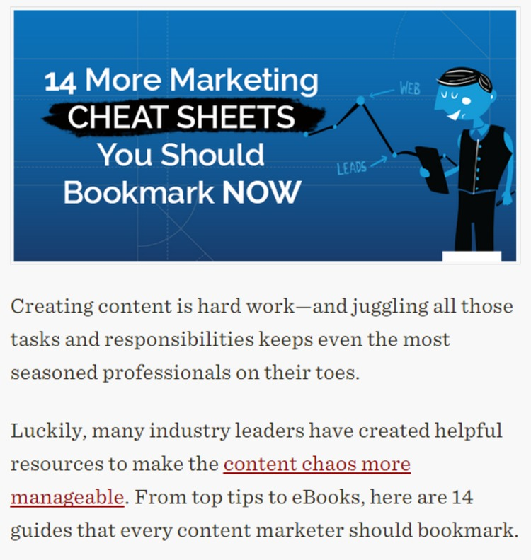 14 More Marketing Cheat Sheets You Should Bookmark Now - Kapost Content Marketing Blog | The Marketing Technology Alert | Scoop.it