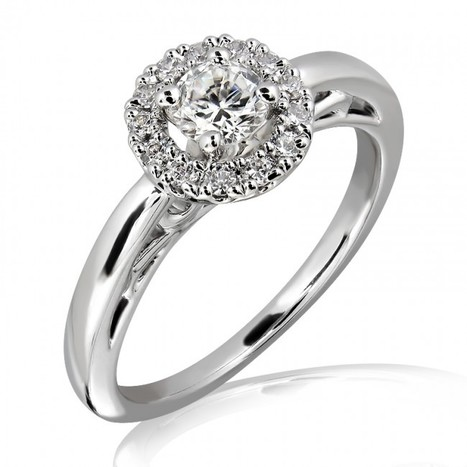Buy 18K Gold and 0.35 Carat E Color VS2 Clarity Diamond Ring Online from Myglitzjewels.com   myglitzjewels   Scoop.it