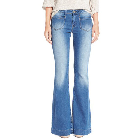 Women's Mavi Jeans 'Pia' Stretch Flare Leg Jeans (Light Brushed) | Jeans Fashion | Scoop.it