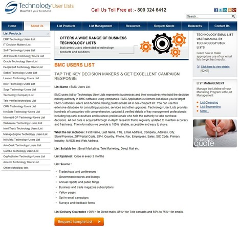 Highly Responsive BMC Users List | Technology Email List | Scoop.it
