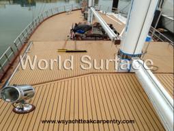 Synthetic teak Decking on 150′ Sailboat – Boat flooring | World Surface | Teak Decking | Scoop.it