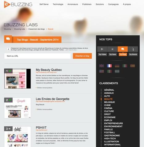 Blogs Beauté les plus influents - Classement par influence | Revue de Presse Les Envies de Georgette | Scoop.it