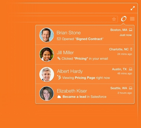 Signals by HubSpot - See who opens your emails | Integrated Marketing Communications & Digital Planning | Scoop.it