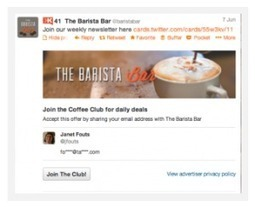 Twitter's Lead Generation Card: The Next Thing in Marketing | Boundless Thinking | Scoop.it
