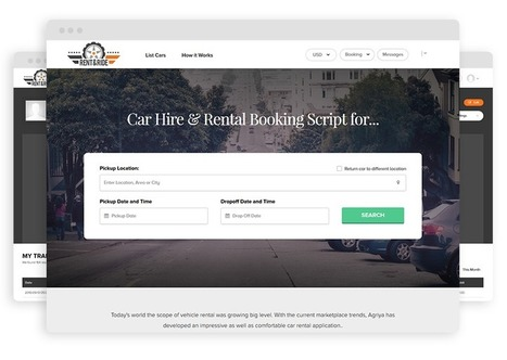 Agriya Releases its Most Interesting Auto Rental Software - Rent&Ride | Agriya | Scoop.it