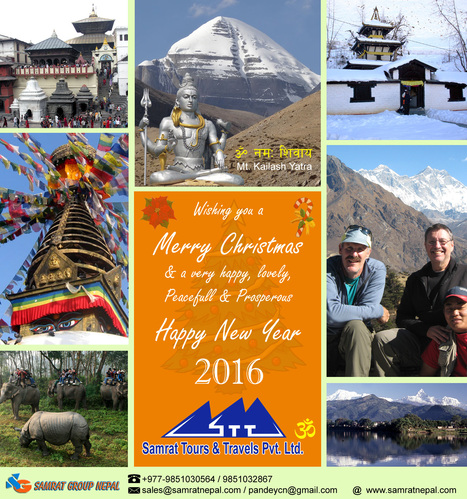 Wishing you a Merry Christmas & a Happy New Year 2016 !!! | Nepal China Tour Packages. | Scoop.it
