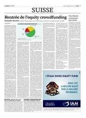 Rentrée de l'equity crowdfunding | Agefi.com | Crowdfunding_Regulation | Scoop.it